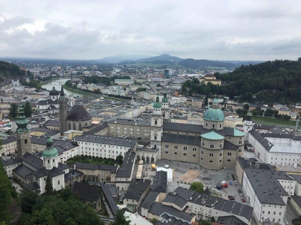 נוף העיר זלצבורג מהמצודה