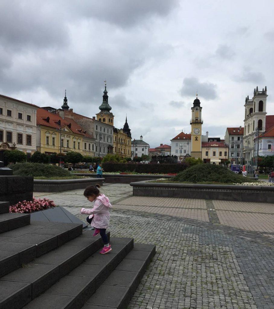 כיכר מרכזית בבנסקה ביסטריצה סלובקיה
