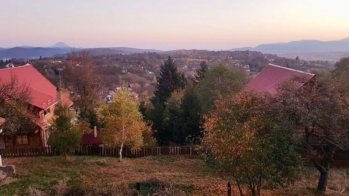 הנוף מהבקתה שלנו בבראן